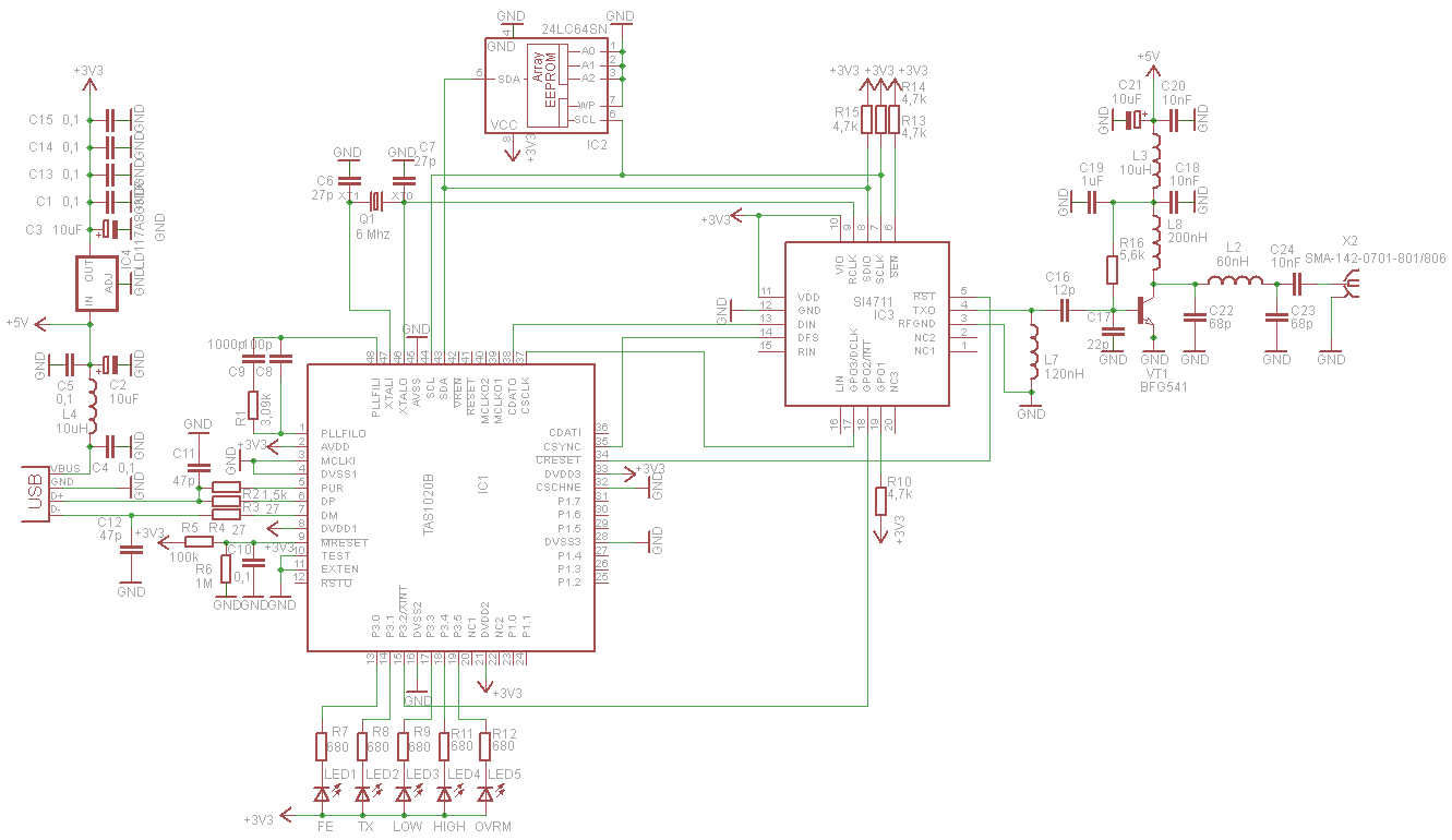 Fmstick Digital Usb Fm Transmitter Circuit Electronic Schematic