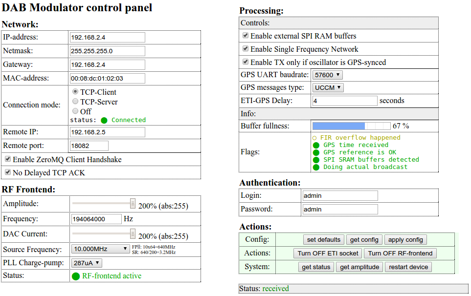 Modifying EasyDABv2 for SFN operationing | tipok org ua